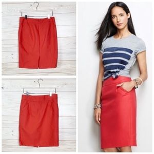 J. Crew the Pencil Skirt Career Business size 8